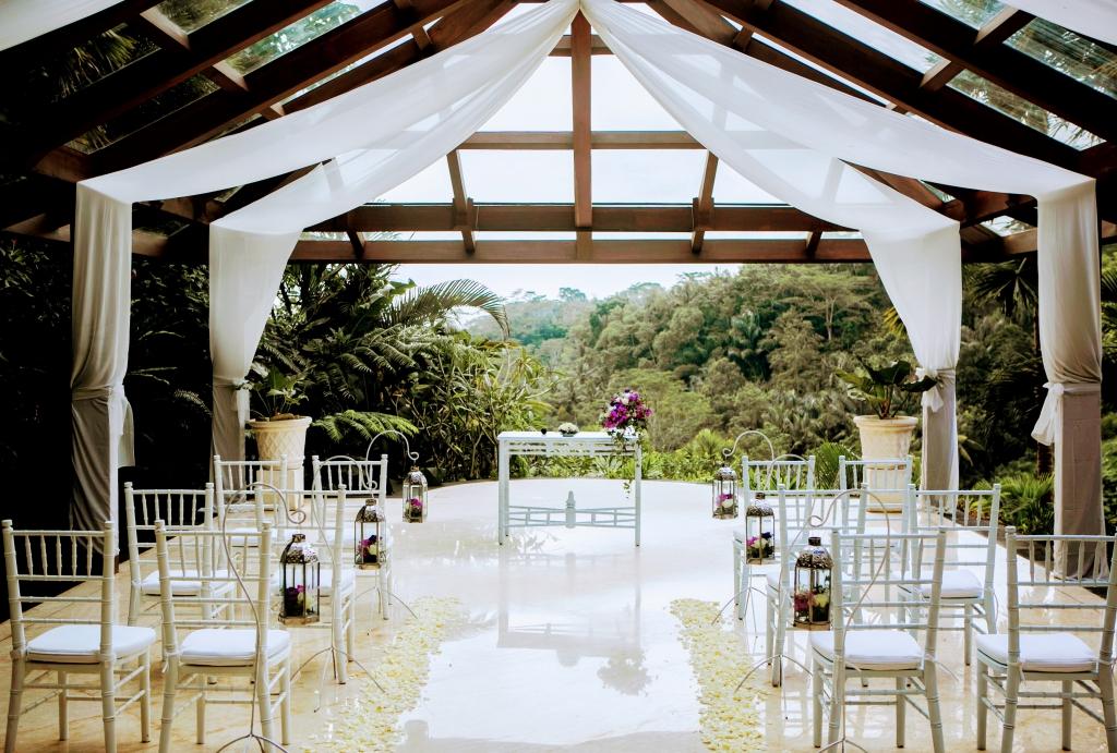 バリの結婚式場の写真