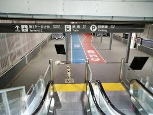 成田空港第3ターミナルのエスカレーター