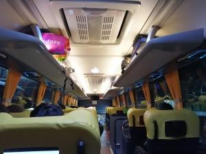 バギオからマニラまでJOYBUS完全ガイド予約方法とバスの乗り方ジョイバスの車内の画像
